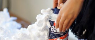 Слайм из пены для бритья своими руками